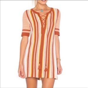 Free People Crochet Lollipop Sunset Stripe Dress